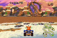 Crash Nitro Kart - look at map go to hear  - User Screenshot